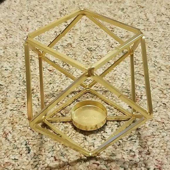 Other - Gold Geometric Candle Holder